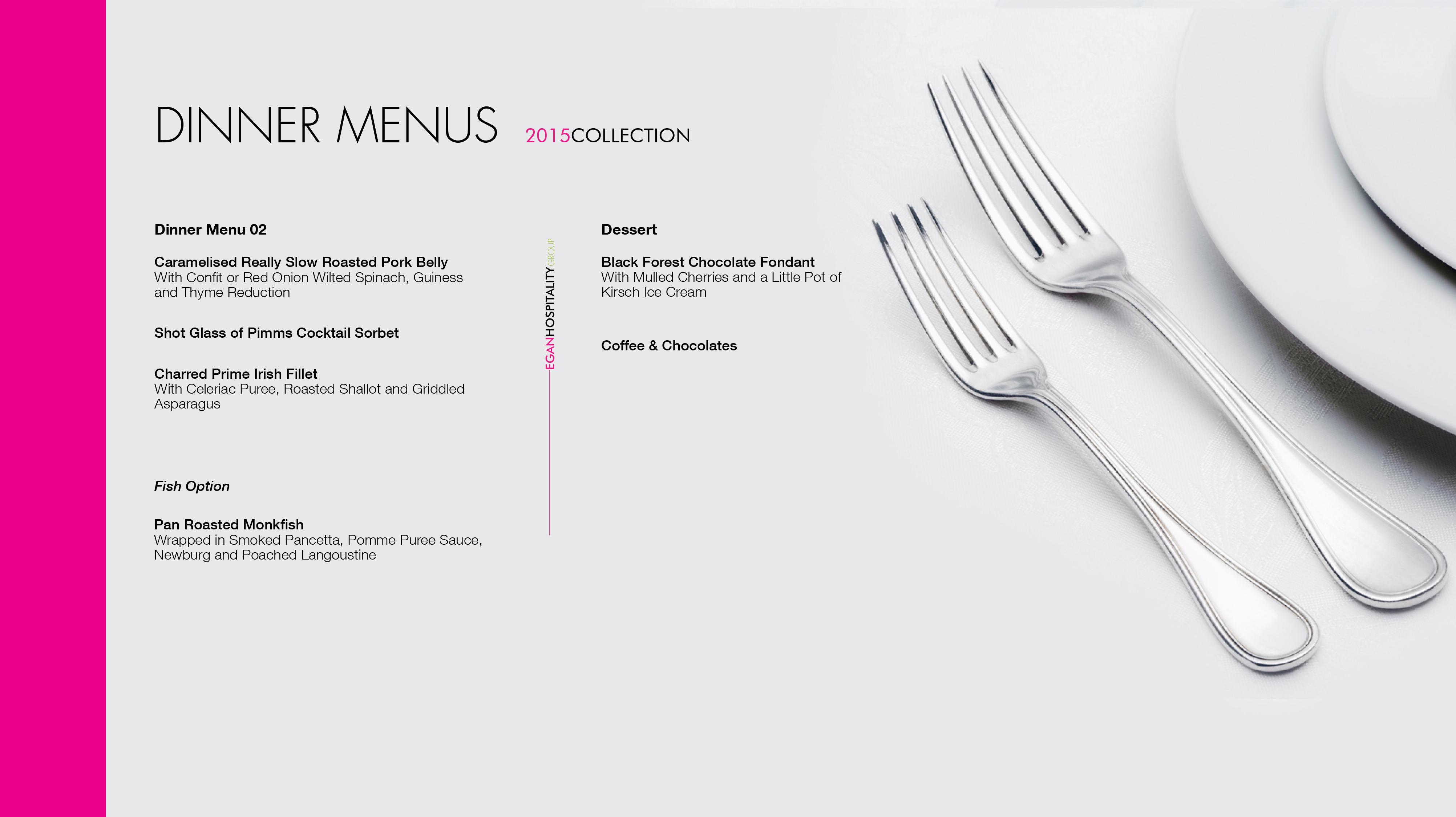 Dinner Menu 3