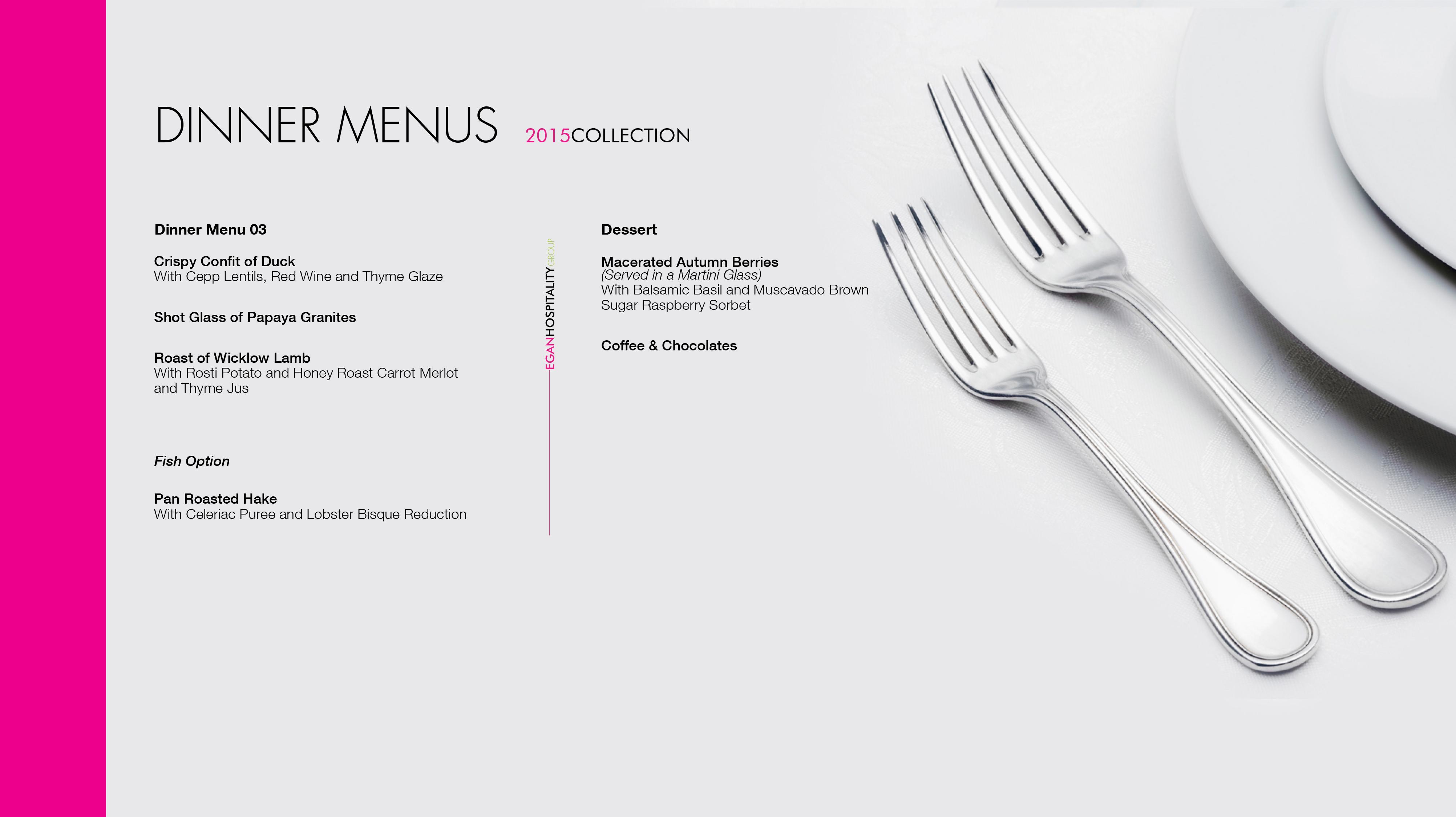 Dinner Menu 4
