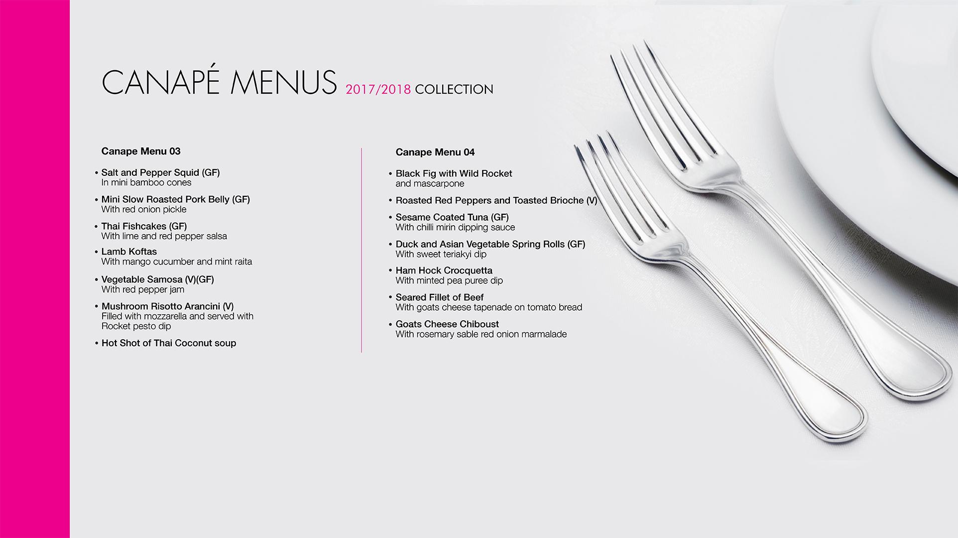 canape menu 2